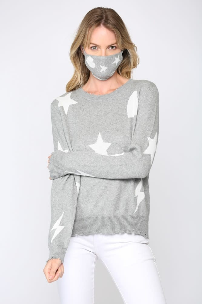 Star, Heart & Bolt Sweater w/ mask