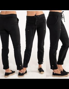 Pull-On Stretch Drawstring Pants