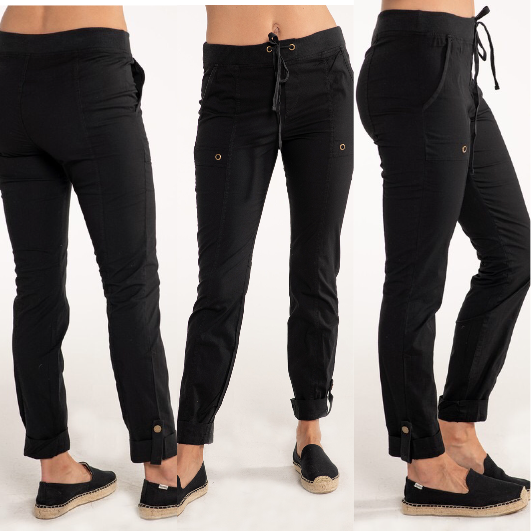 Pull-On Stretch Drawstring Pants
