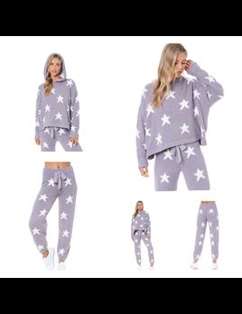 Star Print Pullover Hoodie
