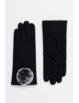 Faux Fur Lined Glove with Fur