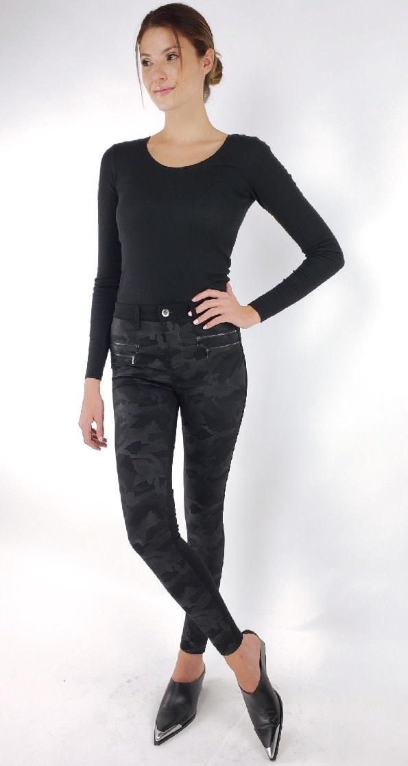 High Rise Ponte Skinny Jeans