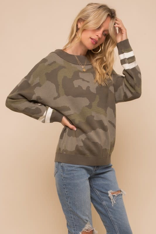 Camouflage Dolman Sweater