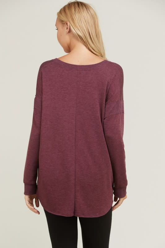 V Neck Tunic Top