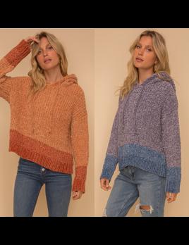 Color Block Chenille Sweater