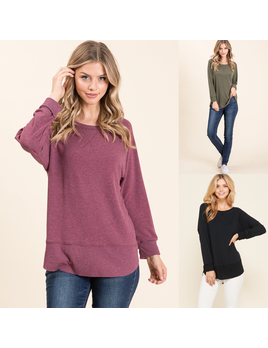 Raw Edge Tunic Top