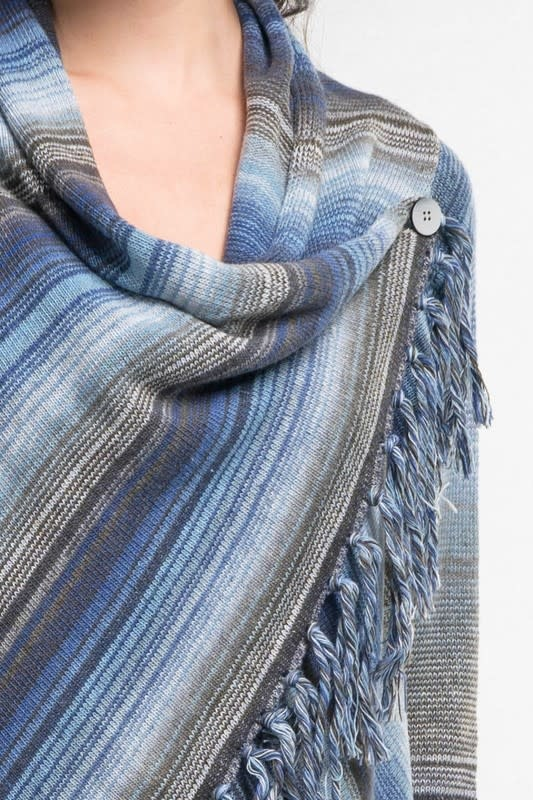Cowl Draped Cardigan Sweater