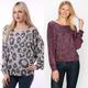 Leopard Print Dolman Sweatshirt