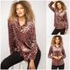 Leopard Print Velvet Shirt
