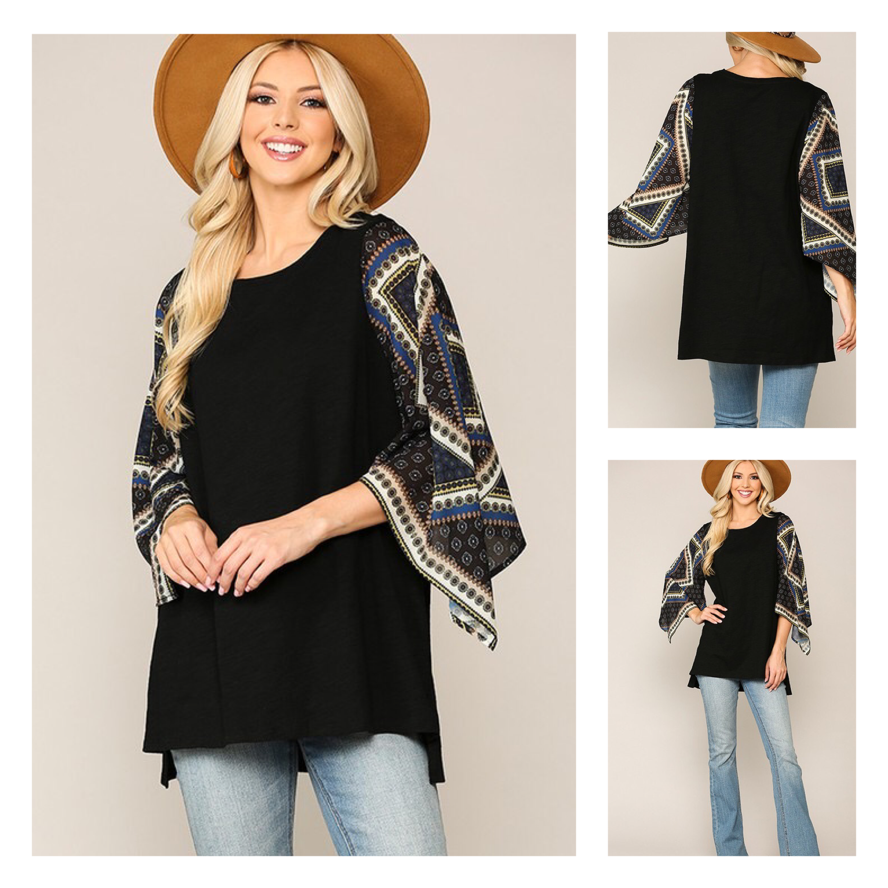 Scarf Sleeve Top