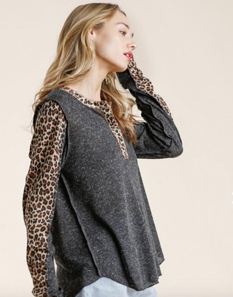 Leopard Detail Top