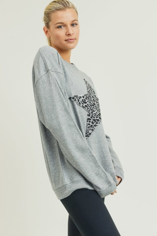 Cheetah Star Sweatshirt