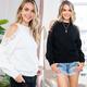 Crochet Lace Detail Sweater