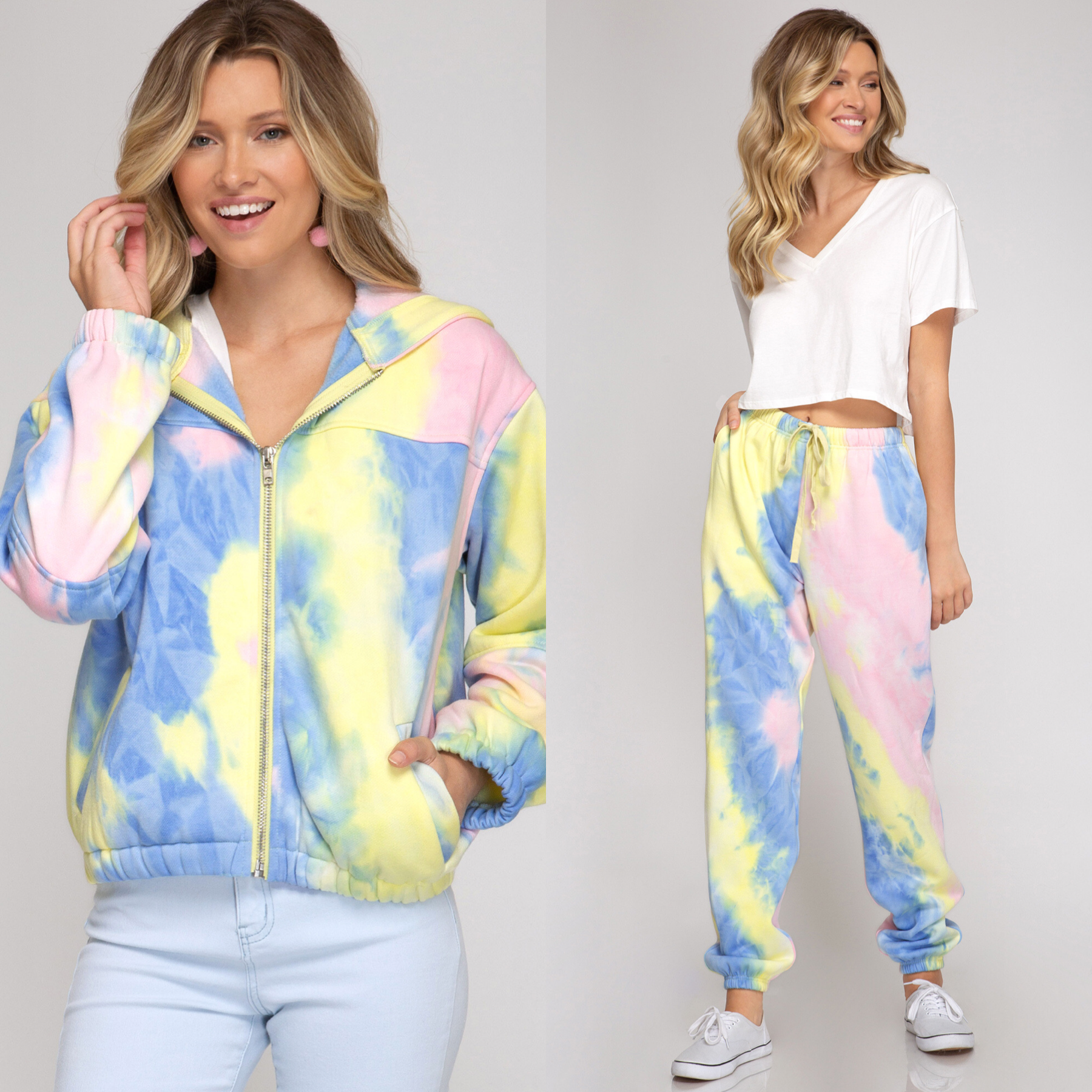 Tie Dye Lounge Zip Jacket