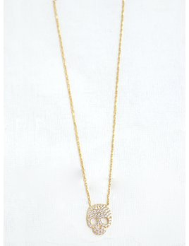 CZ Skull Necklace