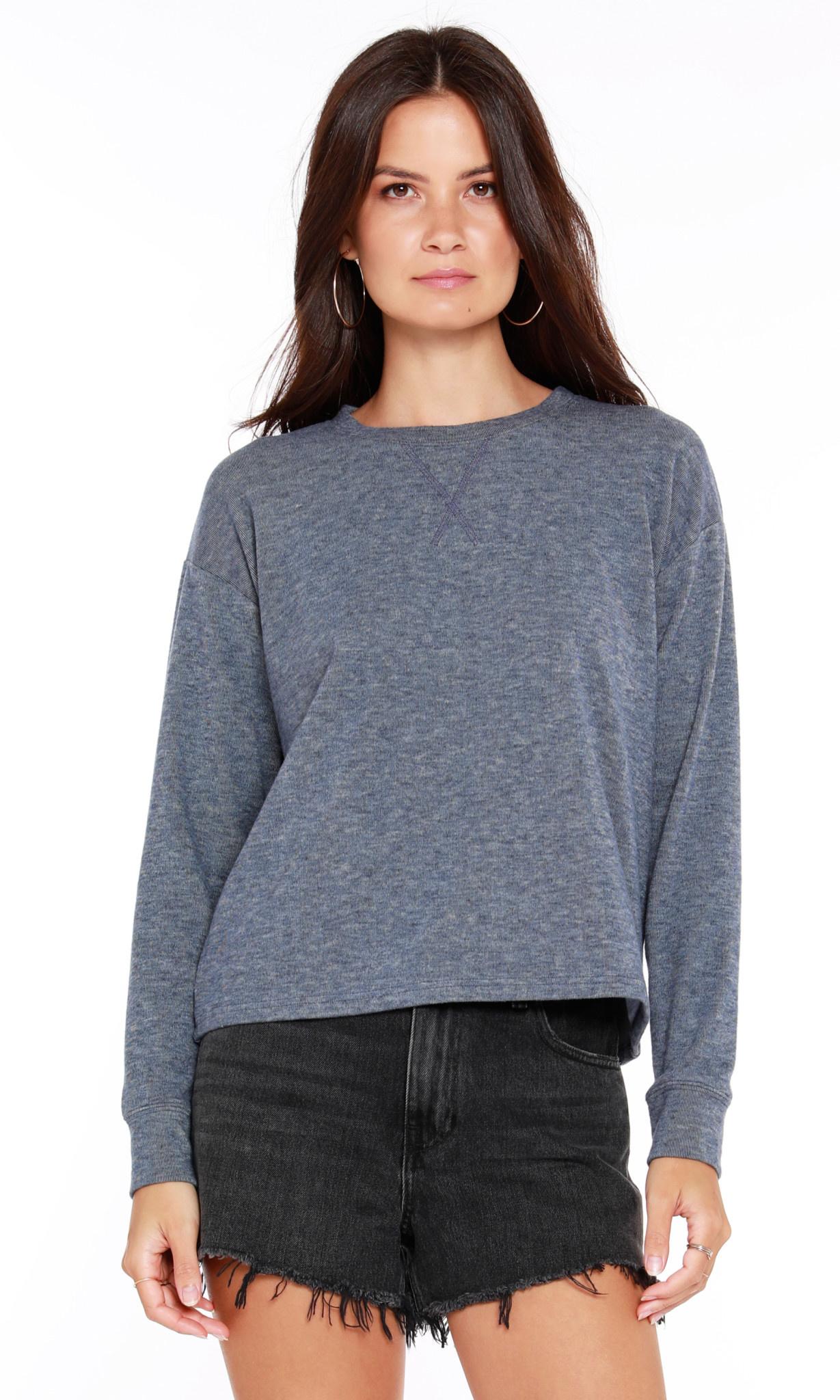Cozy Heathered Long Sleeve Top