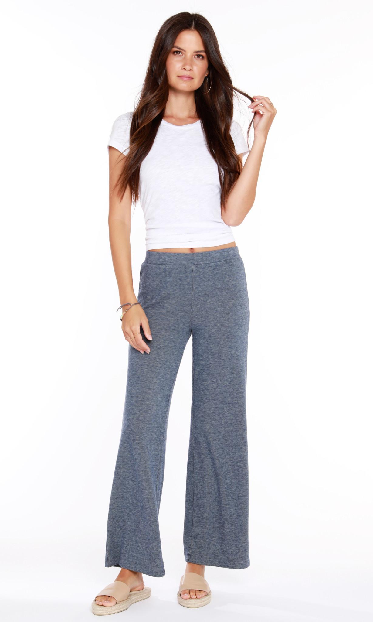 Cozy Heathered Knit Pants
