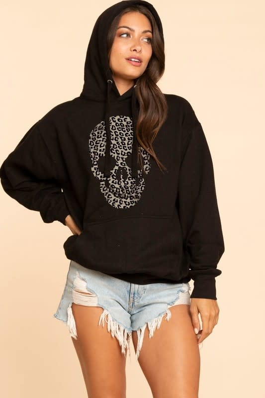 Leopard Skull Sweatshirt