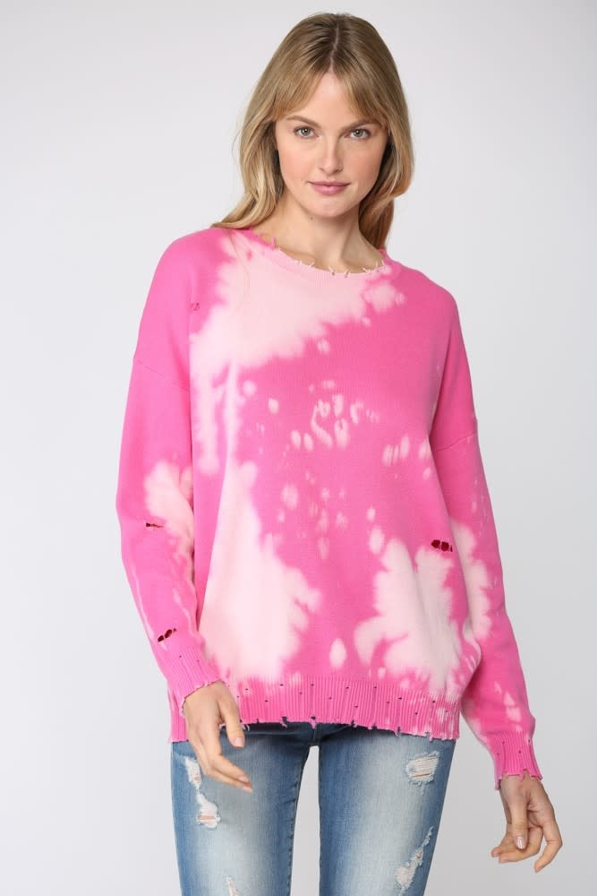 Bleached & Distressed Sweater