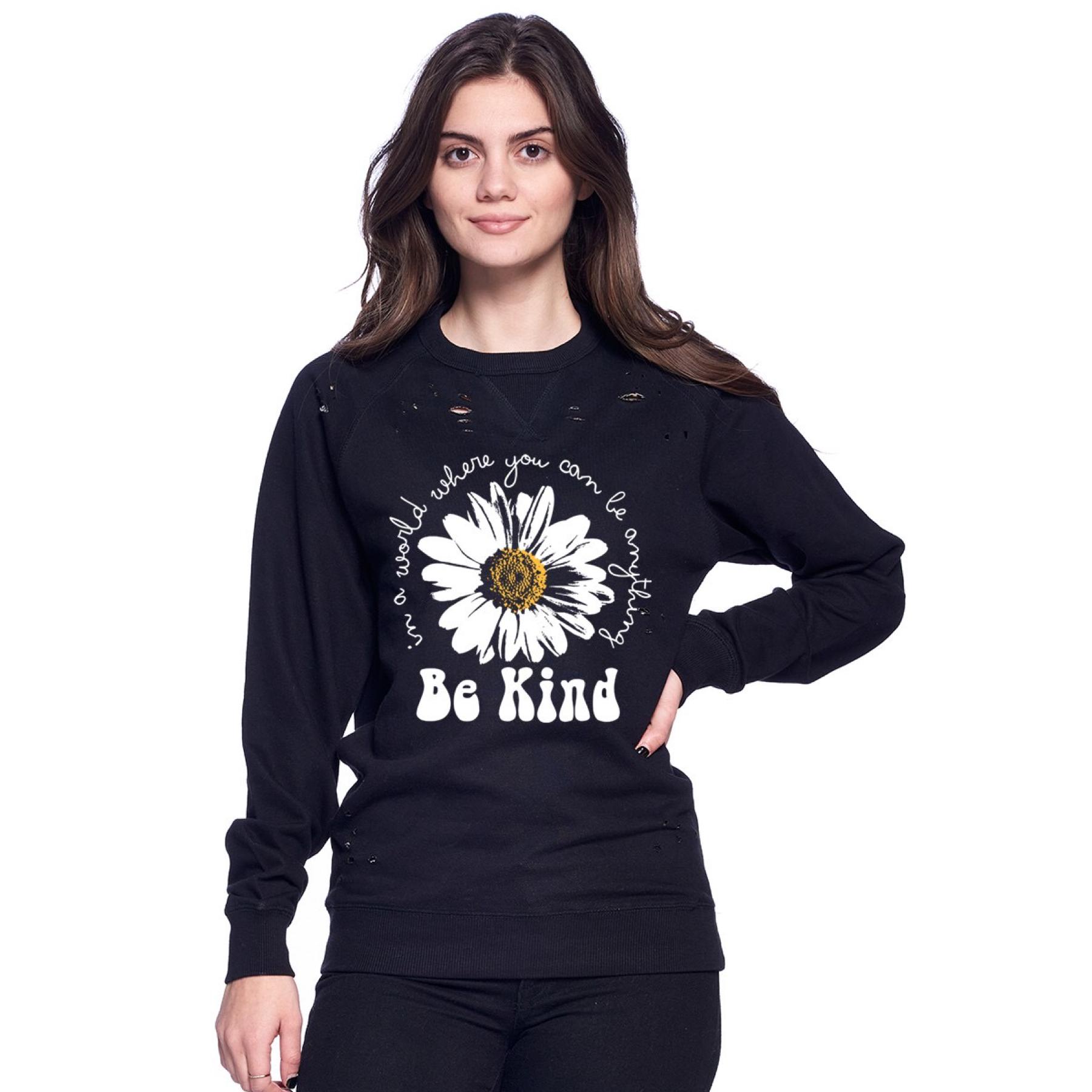 Distressed Be Kind Sweatshirt