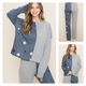 Color Block Sweatshirt with Star Detail