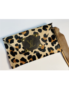 Leopard LV Wristlet
