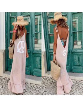 Peace Sign Dress/ Coverup