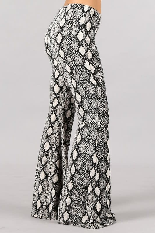 Snake Print Bell Botton Pants