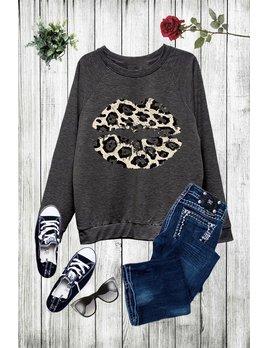Leopard Lip Sweatshirt