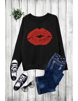 Red Lip Sweatshirt
