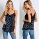 Animal Print Lace Detail Tank