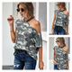 Cut Out Detail Camouflage Tee