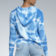 Distressed Zip Up Tie Dye Sweater