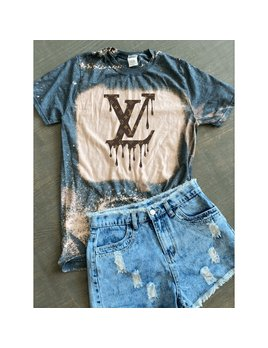 Dripping LV Tie Dye Tee Shirt
