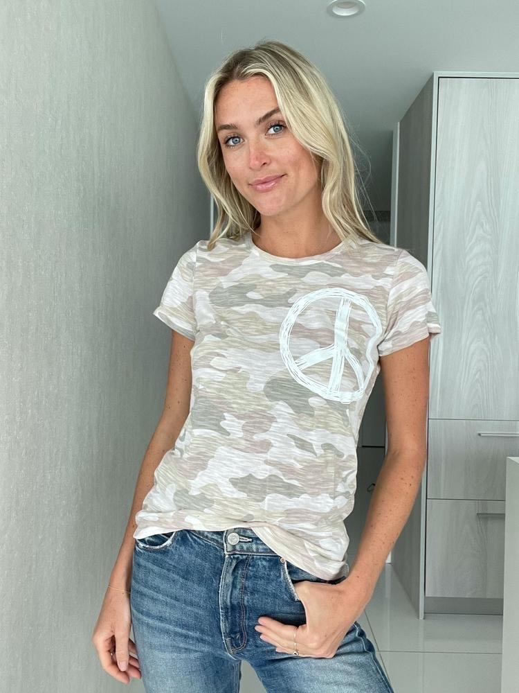 Camouflage Peace Sign Tee