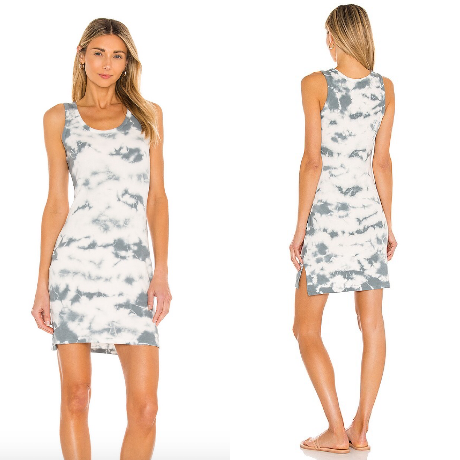 Ribbed Hi-Lo Dress