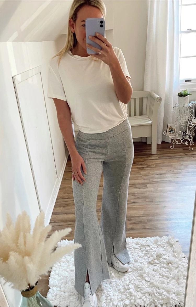 Front Slit Flare Pants