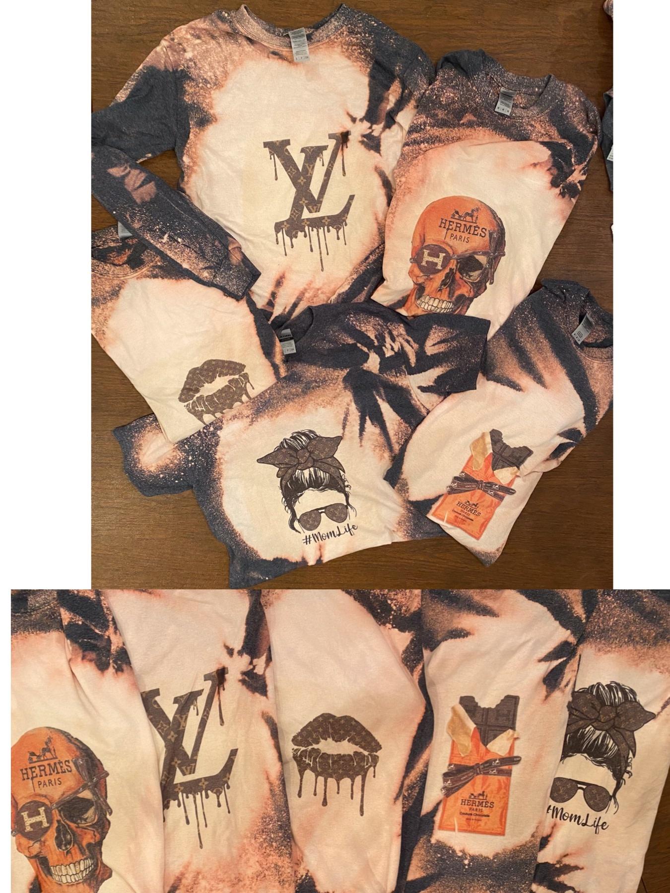 Designer Inspired Tie Dye Short Sleeve Tops