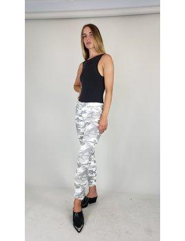 Camouflage 5 Pocket Zipper Hem Crop Jeans