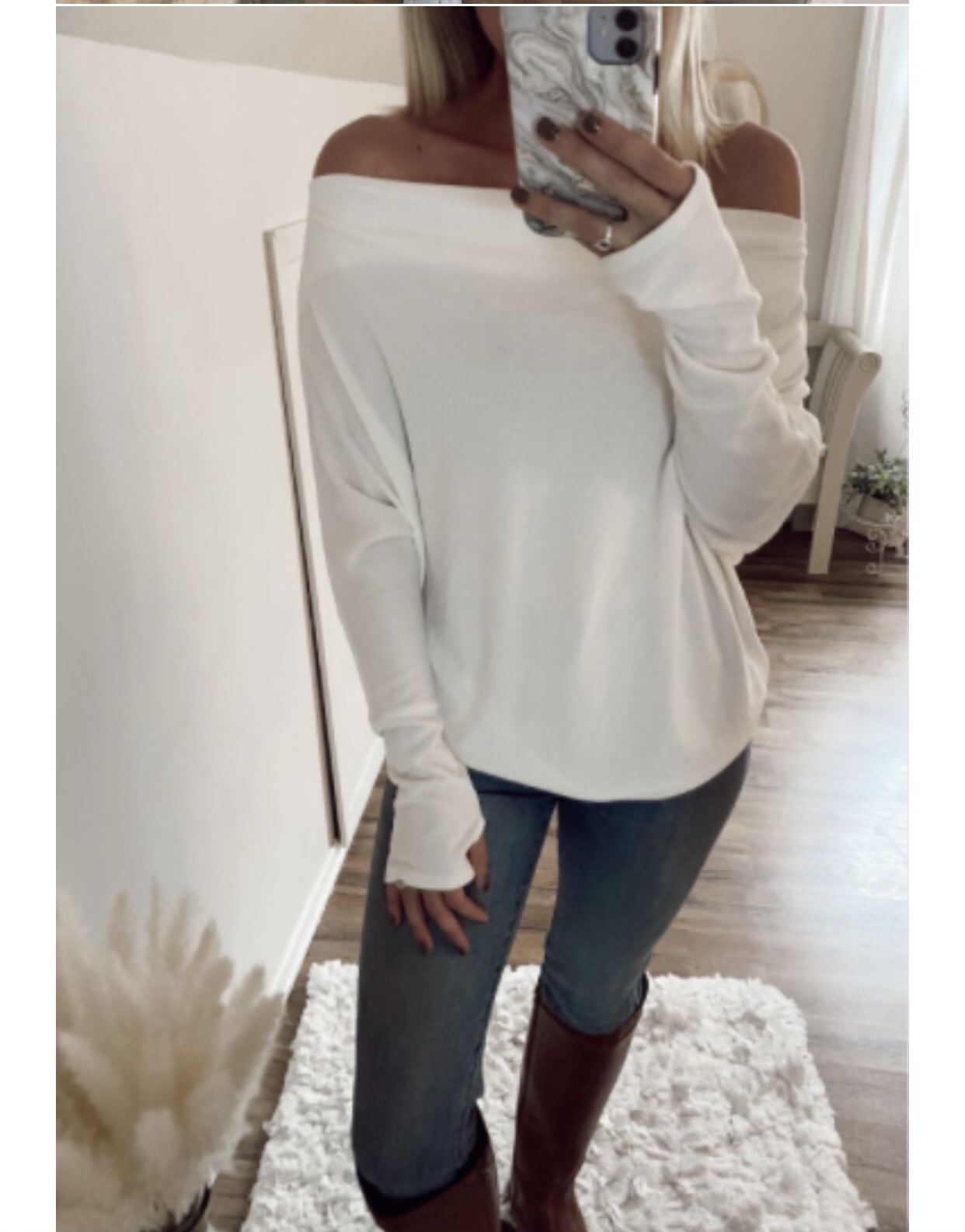 Off Shoulder Top with Thumb holes