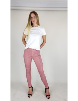Skinny Zipper Cargo Jeans