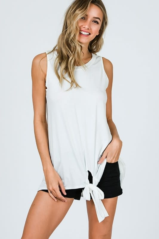 Tank Top with Tie Detail
