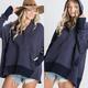 Oversized Button Detail Sweatshirt