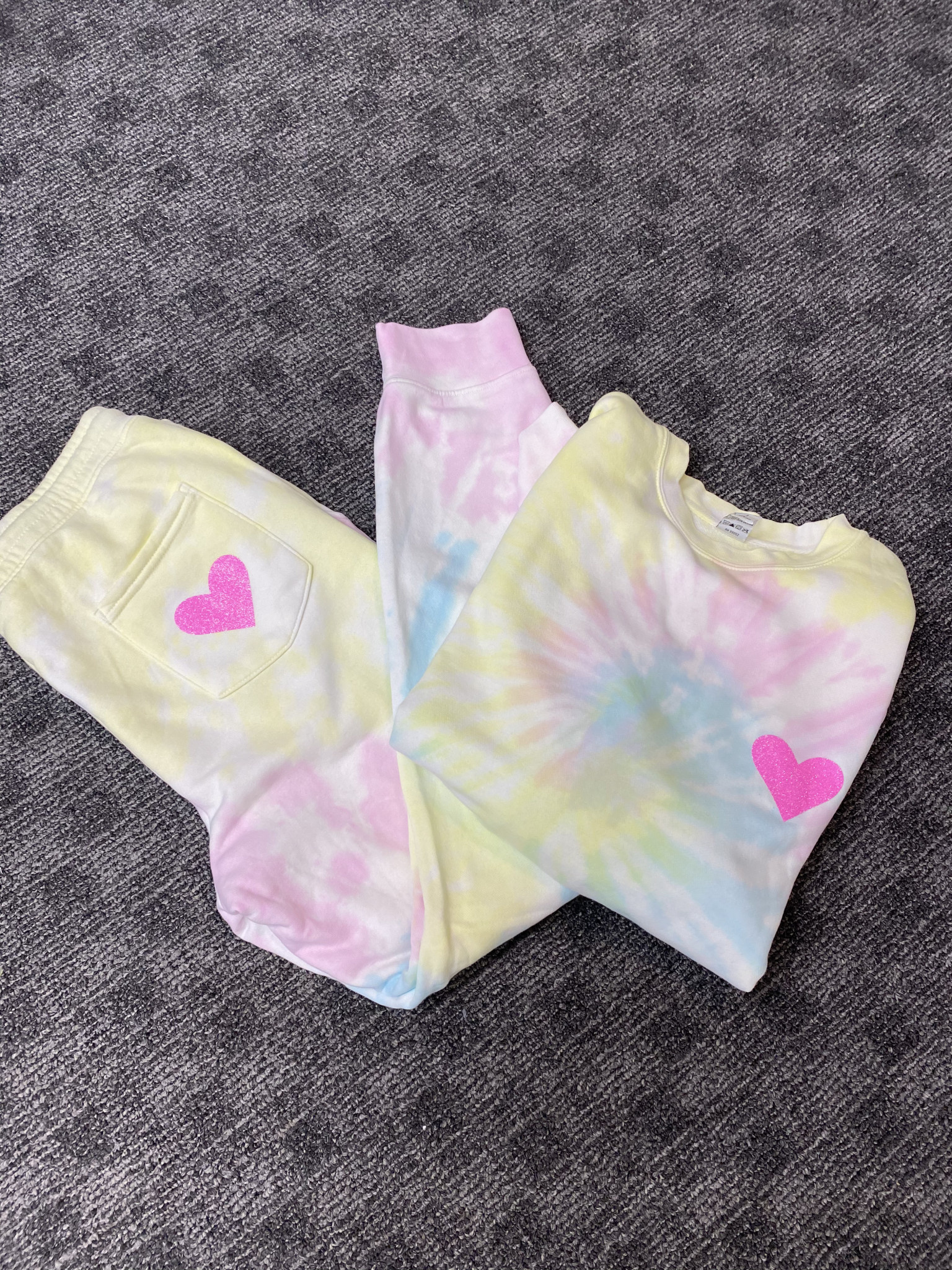 Tie Dye Joggers with Heart