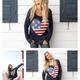 Heart Flag Crew Sweater