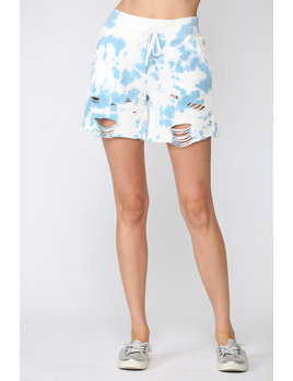 Distressed Tie Dye Shorts