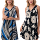 Printed Zipper Tank Dress