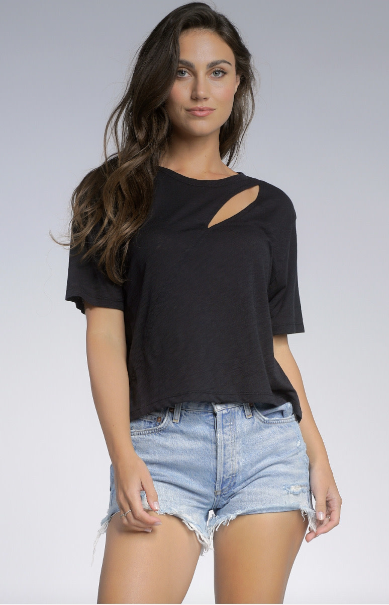 Slit Front Tee Shirt