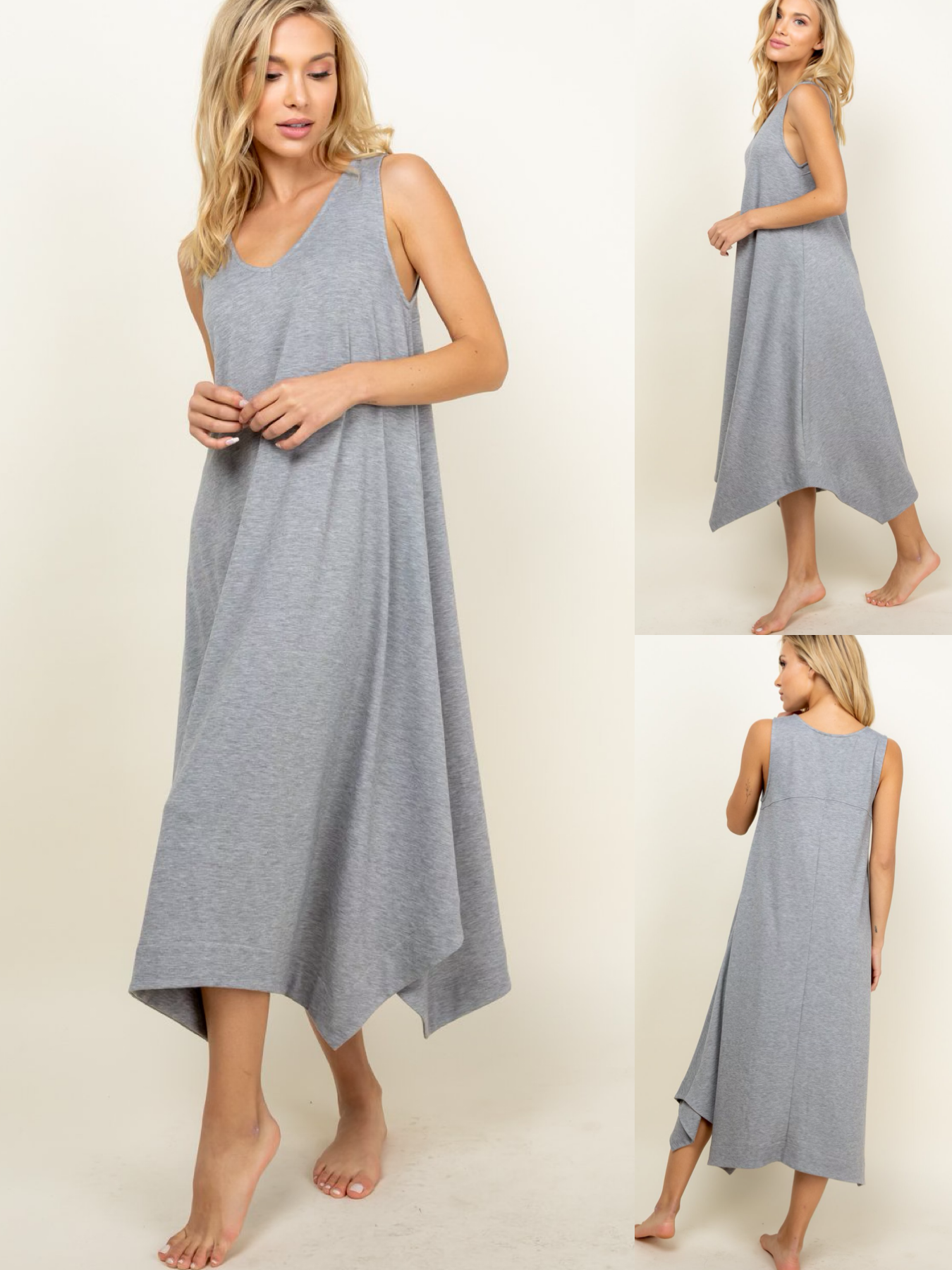 French Terry Asymmetrical Dress