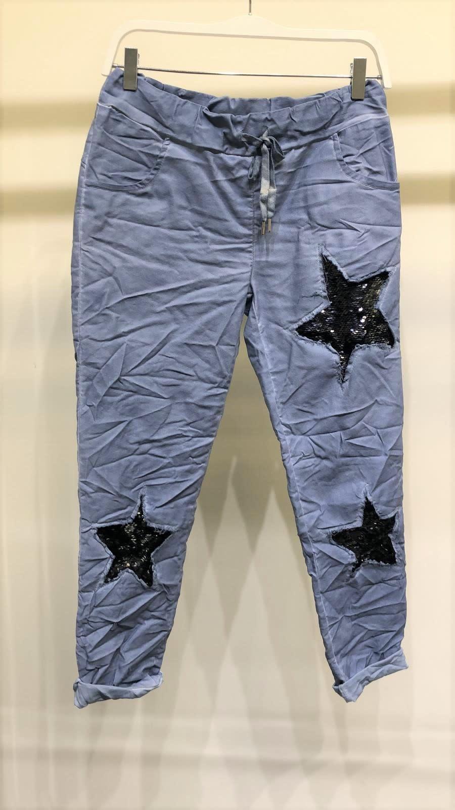 Sequin Star Crinkle Jogger